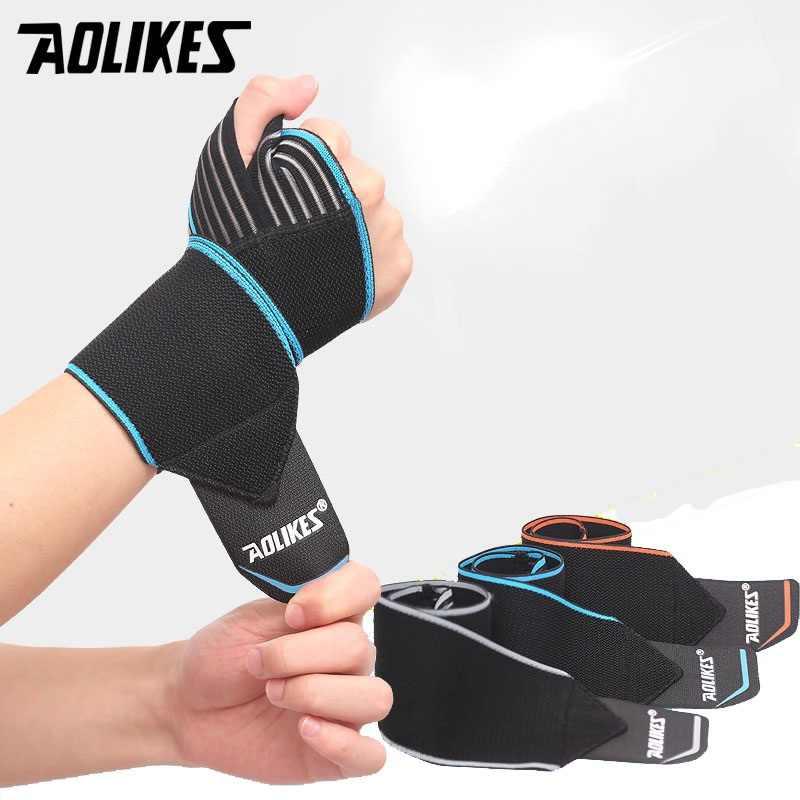 2017 mới aolikes 1 cái cổ tay thể thao ban nhạc cổ tay hỗ trợ strap kết thúc tốt đẹp tay bong gân kết thúc tốt đẹp băng thể dục đào tạo an toàn hand ban nhạc