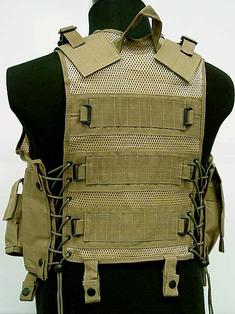 US Airsoft sports vest Hunting Tactical Assault Vest Coyote Brown B