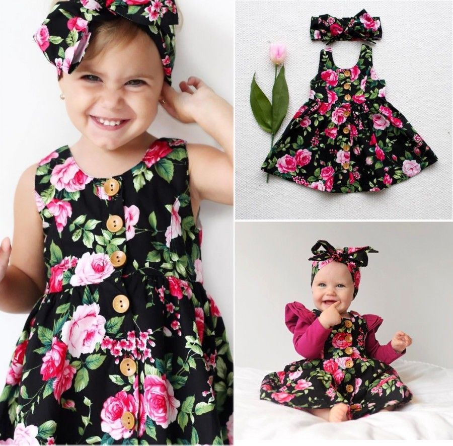 Flower Toddler Baby Girls Kids Floral Bowknot Summer Dress Sundress Clothes girl dresses new hot sale 2016 korean style boy autumn and spring baby boy short sleeve t shirt children fashion tees t shirt ages