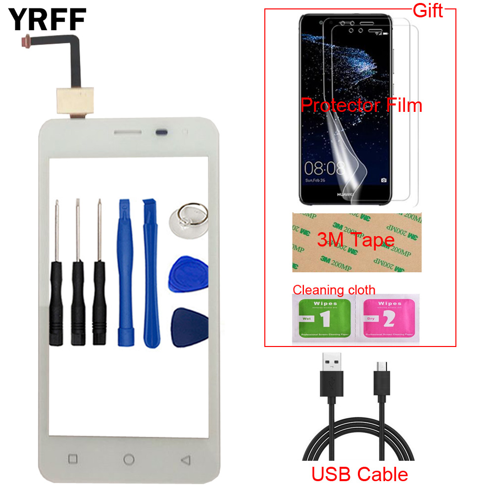 4.5'' TouchGlass Mobile Phone Touch Screen For Micromax Q415 Q 415 Touch Screen Glass Digitizer Panel Lens Sensor Tools Gift