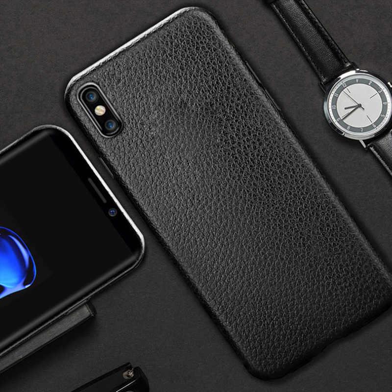 خزائن هاتف رقيقة جدا خزائن هاتف آيفون 5 5s SE 6S 6 7 8 Plus X XS XR Max غطاء جلد ناعم بولي يوريثان سيليكون حقيبة لهاتف أي فون 6S