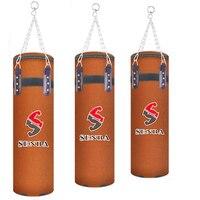 60 120cm Training Fitness MMA Fighter Boxing Bag Hook Hanging Bag Sport Sand Punch Punching Bag Leather Suede Sandbag Saco Boxeo