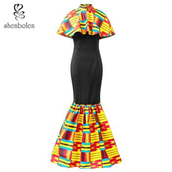 african dresses for women clothes traditional material wax print clothing