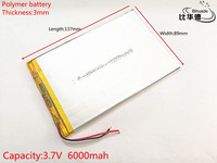 Lithium Polymer Battery 3 7V 3089137 Tablet Battery 6000 Mah Each Universal Rechargeable For Tablet Pc