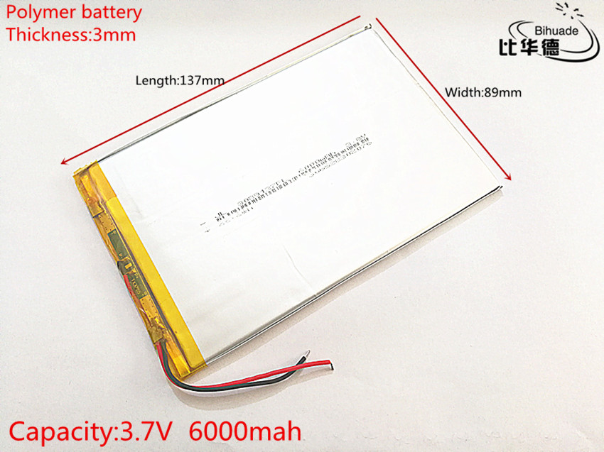 lithium polymer battery 3.7V 3089137 tablet battery 6000 mah each universal rechargeable for tablet pc 8 inch 9 inch 10inch taipower onda 8 inch 9 inch tablet pc battery 3 7v 6000mah 3 wire 2 wire lithium battery