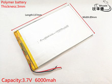 lithium polymer battery 3.7V 3089137 tablet battery 6000 mah each universal rechargeable for tablet pc 8 inch 9 inch 10inch
