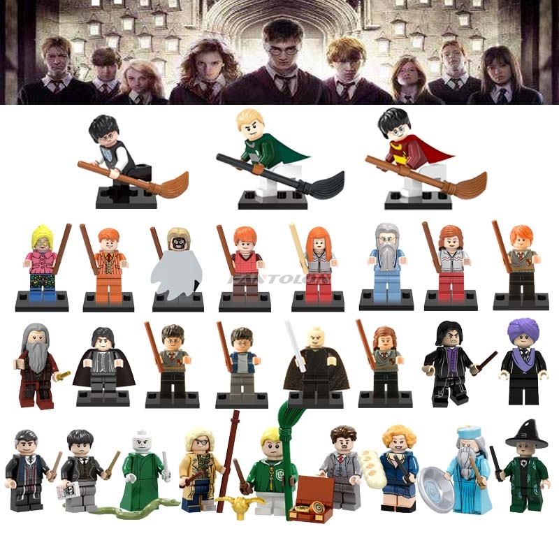 Single Building Blocks Harry Magic Series Figures Action Figures Hermione Granger Ron Lord Voldemort Draco Malfoy Collection Toy