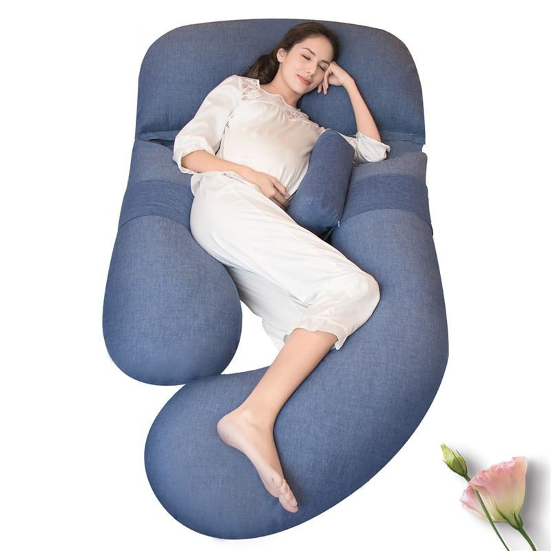 Vente chaude Maternité Pleine Corps Oreiller D'allaitement, Oreiller de Grossesse pour le Cou Bras Ventre Taille Jambe, femmes Enceintes Côté Dormeur Coussin