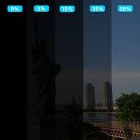 Hot Sale 50x 300cm Dark Black Car Window Tint Film Glass VLT 5 2PLY Car Auto