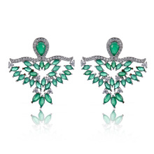 FYM Fashion High Quality 3 Colors Birds Shape Boho Cubic Zirconia Stud Earrings For Women Wedding Earrings Party fym high quality 2 colors boho pendant
