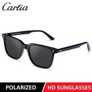 Image 3 - Carfia男性の偏光サングラス眼鏡ファッションレトロサングラススブランドデザイナードライビング 100% uv保護