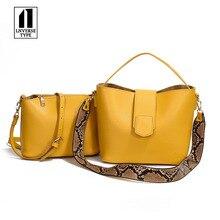 Casual Serpentine Bucket Bag Women Handbags Chic Serpentine