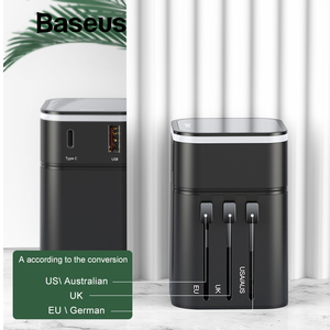 Image 4 - Baseus 18W Quick Charge 3.0 USB Charger Travel Adapter with PD3.0 Fast Phone Charger Global Conversion Charger Worldwide Adapter