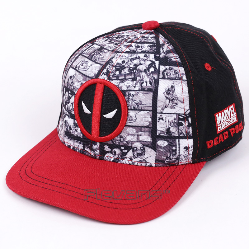 Adult Men Women Adjustable Snapback Hat Fashion Deadpool Hip Hop Baseball Cap Fashion Summer Sunny Caps new fashion floral adjustable women cowboy denim baseball cap jean summer hat female adult girls hip hop caps snapback bone hats