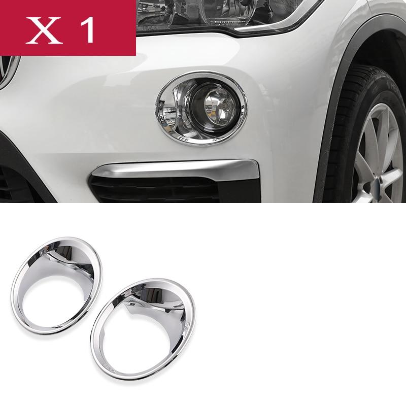 Chrome ABS Pair Rear Bumper Fog Light Lamp Cover Trim Frame For BMW X1 2016-2018