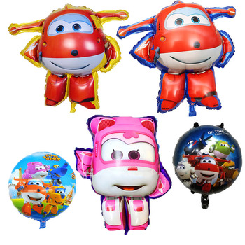 5 Styles 3D Super Wings Balloon Jett balloons Children's Day toys Birthday Party Decorations kids toys Jett globos supplies image
