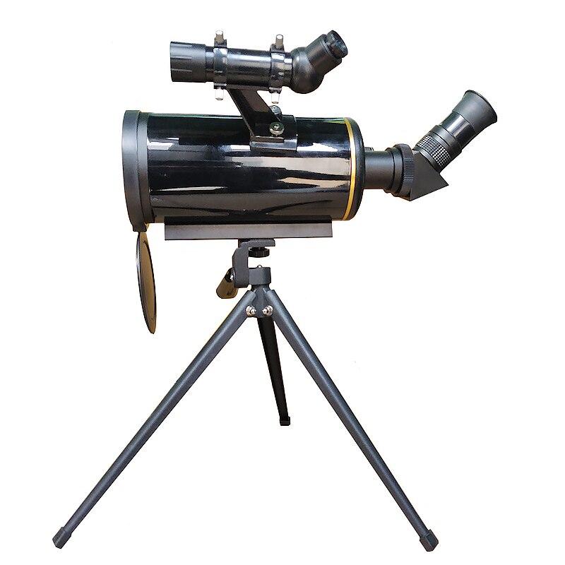 Compact 90/1000 Maksutov-Cassegrain Telescópio Astronômico Longo Foco Monocular com 5 x Finderscope 24 Ferramentas de Observação Espacial