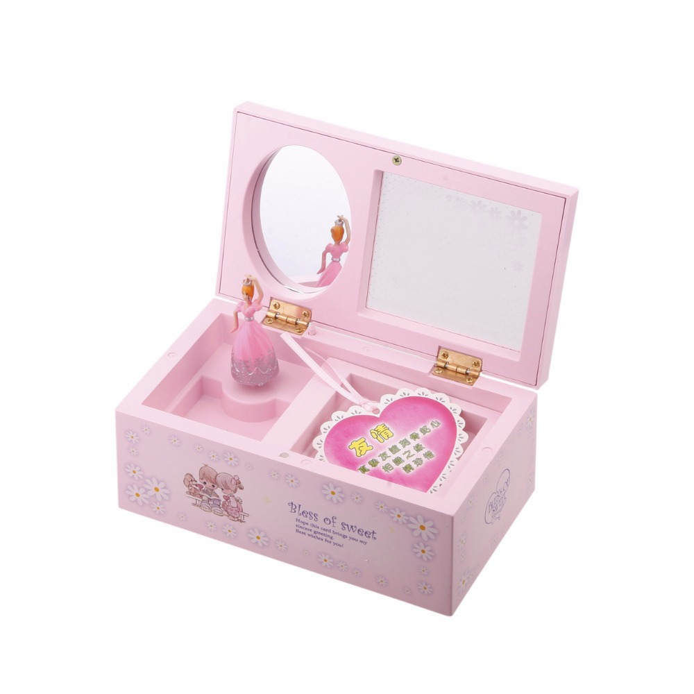 Lovely Girl Music Box Children Musical Jewellery Box Rectangle with