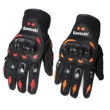 Venta caliente de La Nueva Kawasaki Moto Guantes de Dedo Completo equipo de Protección Moto Motocross Guante Rojo y Naranja Colores Envío Gratis