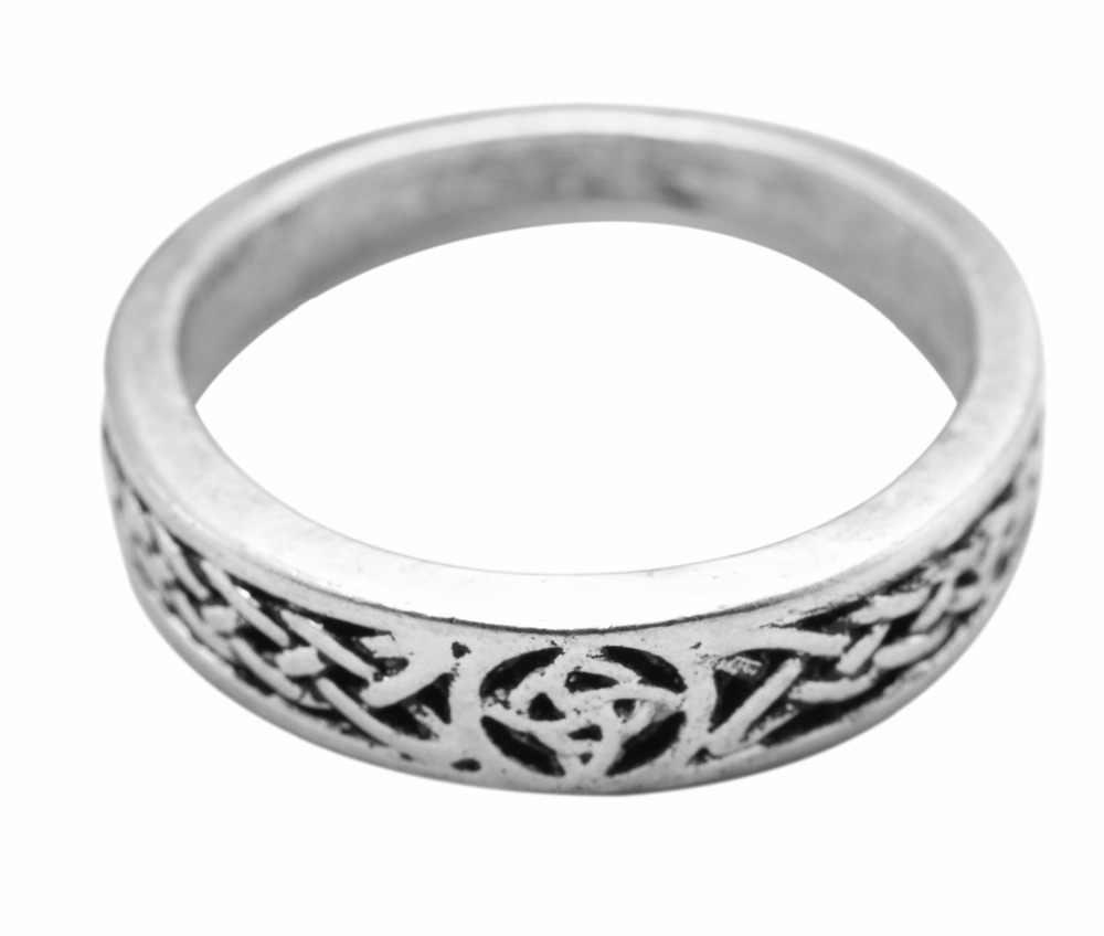 Dawapara Classic Irish Knot Triquetra Trinity Ring Men Or Women Jewelry Cute Rings For Girls