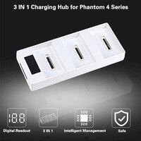 DJI Phantom 4 PRO Phantom 4 Advanecd 3 IN 1 Battery Parallel Charging Hub Charging Board