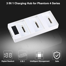 DJI Phantom 4/PRO+/phantom 4 advanecd +/ 3 IN 1 Battery Parallel Charging Hub Charging Board With Digital Display Drone Charger