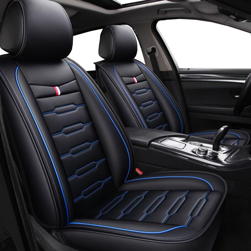Alta Qualidade PU de Couro Dos Desenhos Animados tampas de assento auto para Ford mondeo Focus 2 3 Borda Explorador kuga Fiesta fiesta fusão acessório do carro