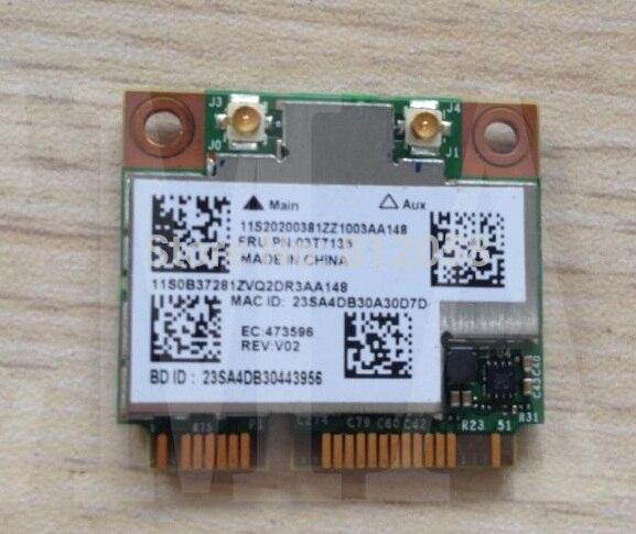 SSEA NOUVEAU WiFi Bluetooth 4.0 pour BroadCom BCM4352 BCM94352HMB Demi Mini PCI-E 802.11ac 867 M 2x2 Sans Fil carte pour Lenovo 03T7135