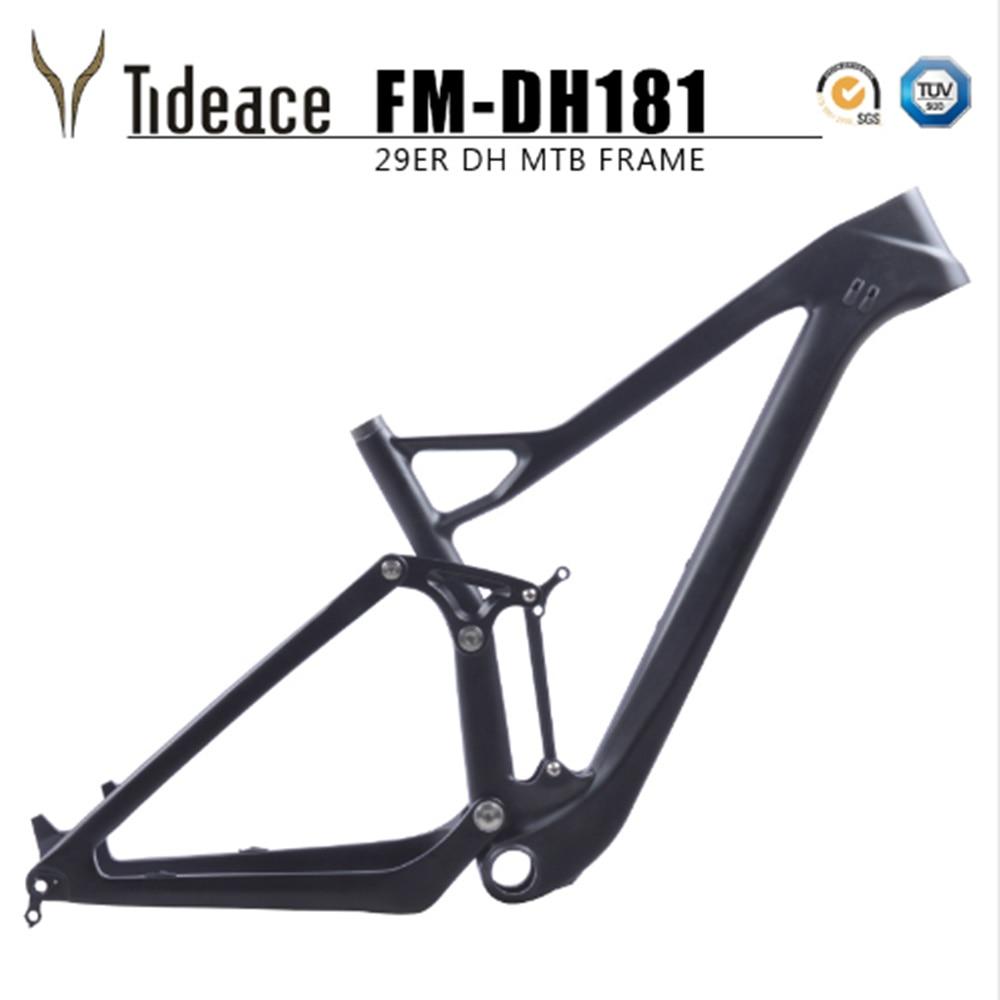 2018 New 29/27.5er Plus Boost Full Suspension MTB Bicycle Carbon 29er Full Suspension Frame Thru Axle Disc Brake Mountain Frame