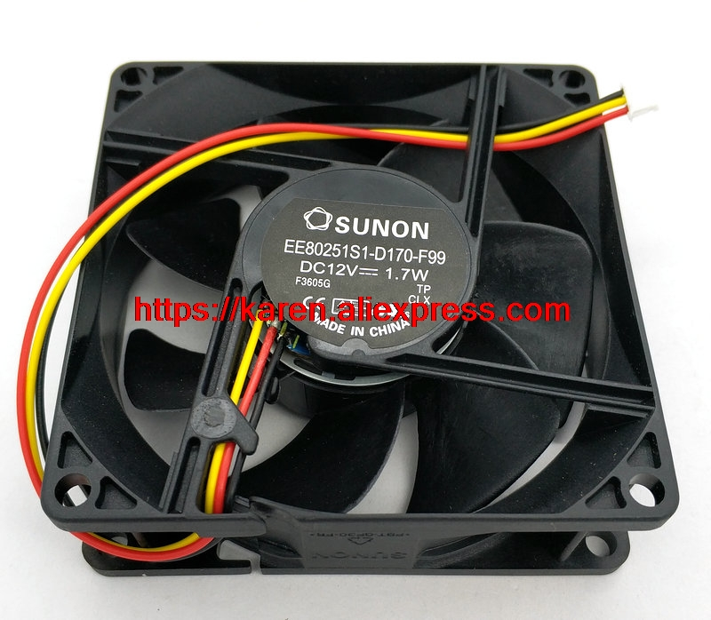 New Original SUNON EP6127A EE80251S1 D170 F99 12V 1 7W projector cooling fan