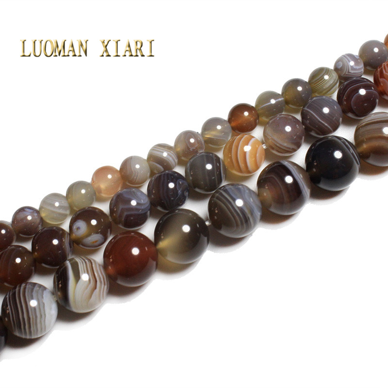 LUOMAN XIARI  Natural AAA+ Fine Persian Onyx Agate Stone Beads For Jewelry Making DIY Bracelet Necklace  6/8/10 Mm Strand 15''