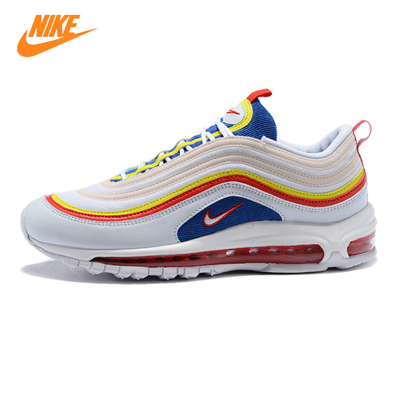 Nike Air Max 97 Summer Vibes Mens and Womens Running Shoes, White, Shock-Absorbing Breathable Non-Slip Lightweight AQ4137 101 ...