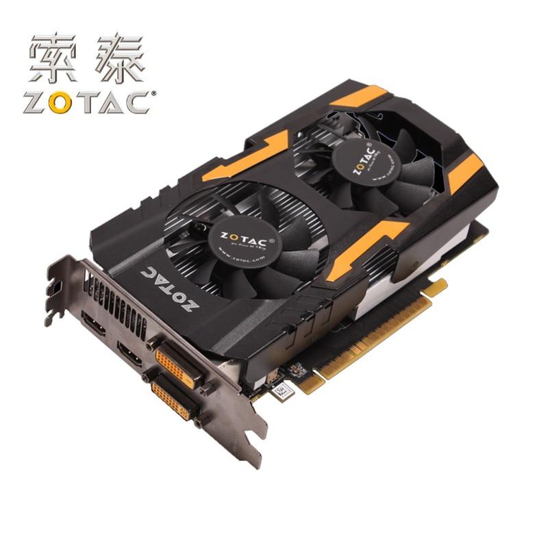 ZOTAC GeForce GTX 650Ti-1GD5 Graphics Cards TSI HA For NVIDIA GT600 GeForce GTX 650 1G Video Card 128bit GD-DR5 Used GTX650