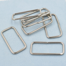 (10 pieces/lot)38mm nickel white wire. Circle. Square circle. Ms. bag accessories. Metal adjustment buckle. Luggage strap buckle