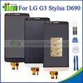 100% testado preto ouro branco para lg g3 stylus d690 lcd screen display touch com digitador assembléia + ferramentas