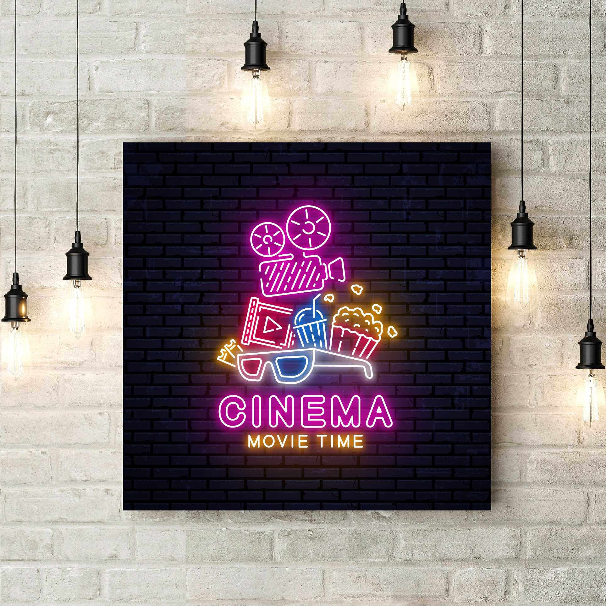 Poster Cinema Wall Art Canvas Painting