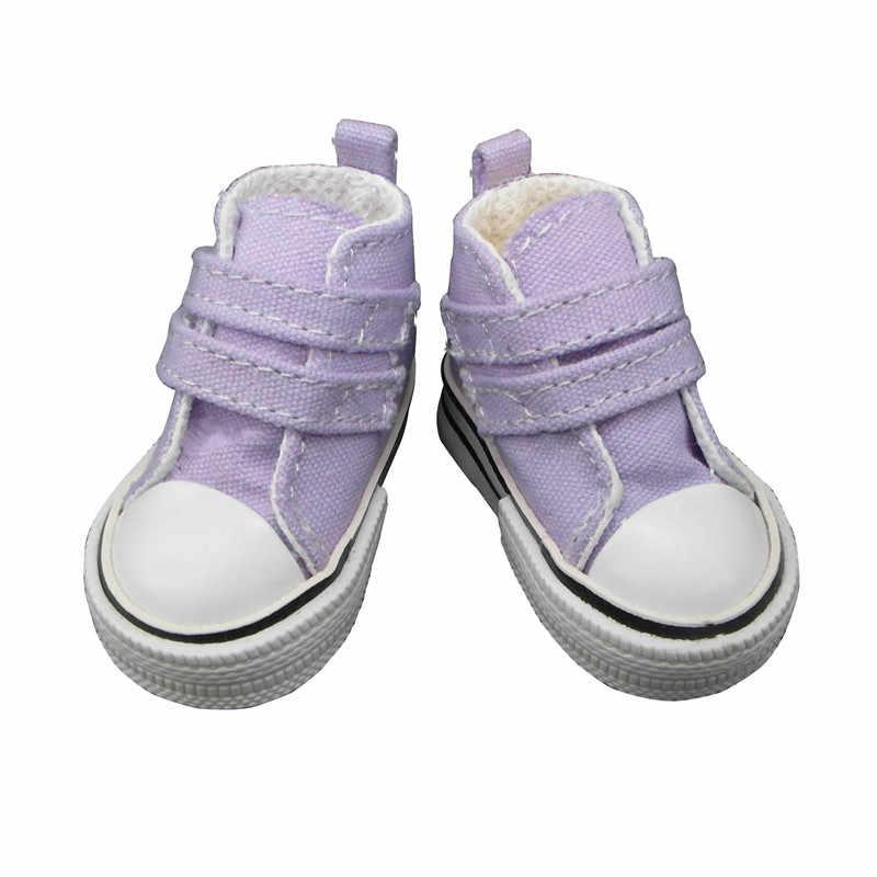 Модная обувь для куклы 6 см для кукол Paola Reina, парусиновая мини-игрушка спортивная обувь для тильды, 1/4 Bjd куклы обувь для спортзала 12 пар/лот
