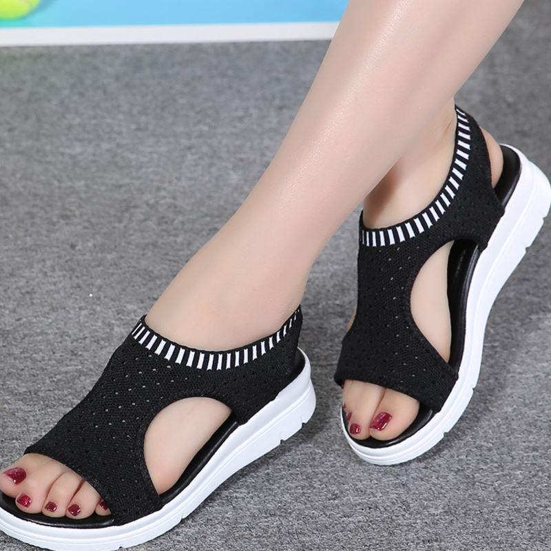 2018 Señoras Sandalias de Verano Planas Salvaje Transpirable Cómodo - Zapatos de mujer - foto 1