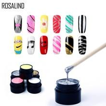 ROSALIND Gel Polish Set for Manicure Semi Permanent Vernis Top Coat UV
