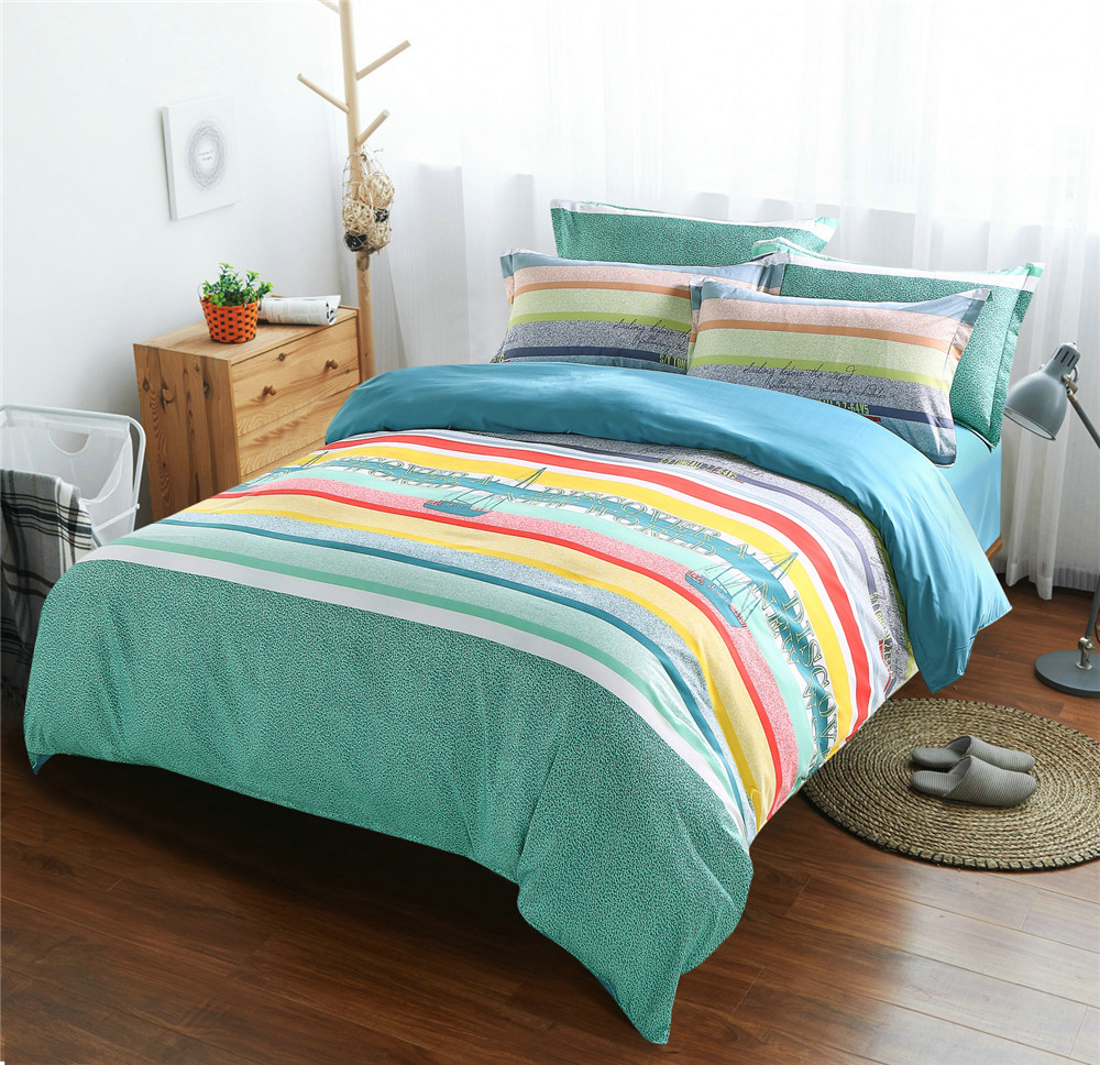 online get cheap bright bedding sets aliexpresscom  alibaba group - ocean boat comforter bed bedding sets pcs bright colorful quilt duvetcover queen king