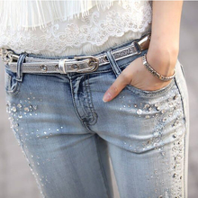 67536573b8 Buy diamond womens jeans and get free shipping on AliExpress.com