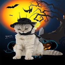 Кошка Волшебная черная шляпа с плащом для Хэллоуина вечерняя шляпа плащ крутое платье для сцены подходит для кошки собаки Тоторо