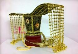 2 Disegni TV Gioca Costume Capelli Diademi Antica Dinastia Cinese Han Imperatrice Bordare Tenda Capelli Pezzo Capelli Diademi