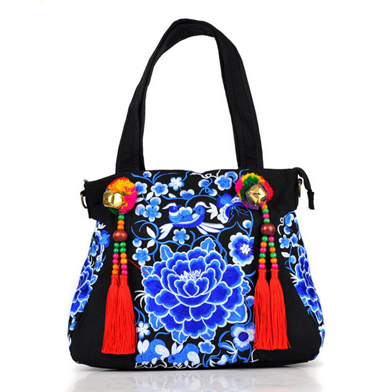 Nation Manual Channel Handbag Characteristic Embroidered Bags Cloth