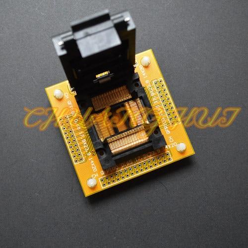 CH-QFP100-0.65 Adapter TQFP100 QFP100 IC Adapter TQFP100 QFP100 LQFP100 Test Socket 0.65mm Pitch IC51-1004-814 Socket