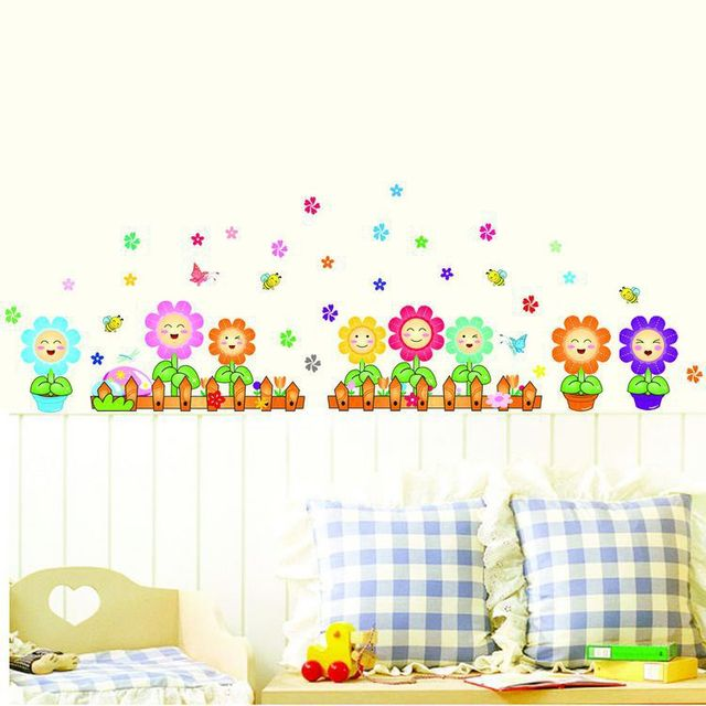 wholesale cartoon wall stickers living room wall decoration texture