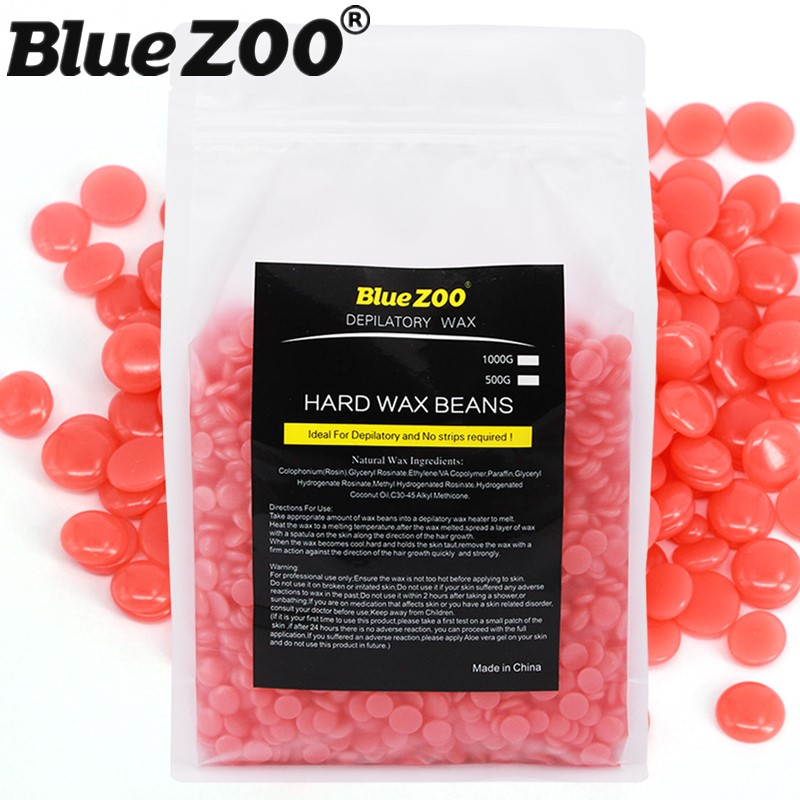 Hot Wax Pearl Bean Waxing 1000g Strawberry Taste Hard Wax Beads No Depilatory Paper Strips Beauty Flawless Facial Hair Removal hot sale beads