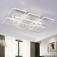 New Modern Led Ceiling Lights For Living Room Bedroom White Ir Black Aluminum Rectangle Led Ceiling