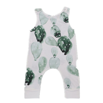 2017 Newborn Baby Boy Girl Jumpsuits Baby Rompers Tiny Cottons Clothes Balloon Print Sleeveless Rompers Infant Clothing Onesie