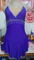 На фигурных коньках одежда женщины конкурс Рисунок Лед обычай носить фигурное катание платье Фиолетовый на фигурных коньках платья Беспла